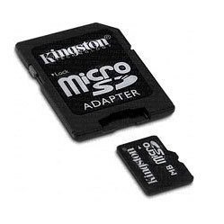 microsd 2gb (kingston sdc/2gb)